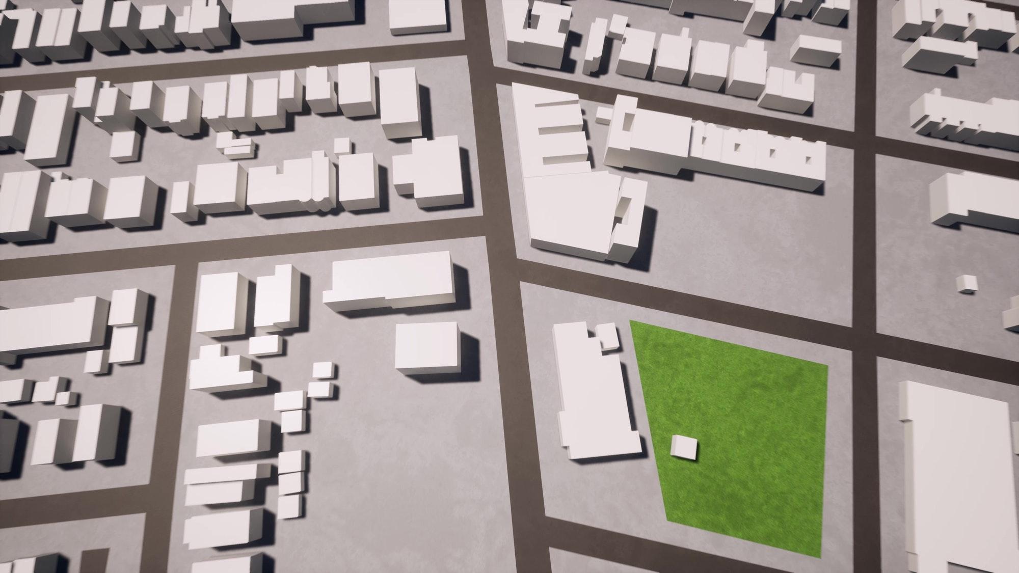 3d town city aerial view landscape